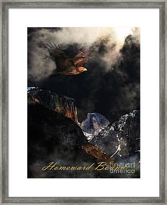 Homeward Bound V2 With Text Framed Print by Wingsdomain Art and Photography