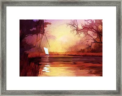 Framed Print featuring the painting Homeward Bound by Valerie Anne Kelly