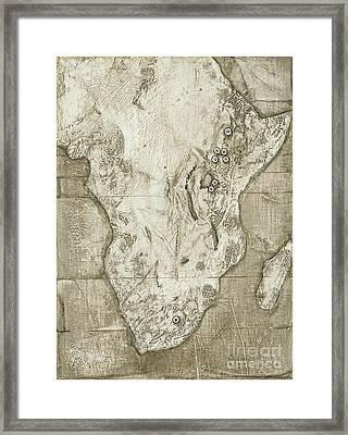 Hominid Fossil Sites In Africa Framed Print by Kennis & Kennis/MSF