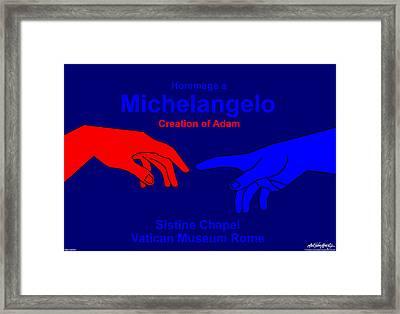 Hommage A Michelangelo  Framed Print by Asbjorn Lonvig