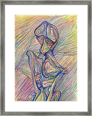 Homme Oiseau Framed Print
