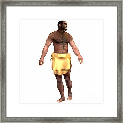 Homo Erectus Male Framed Print by Corey Ford