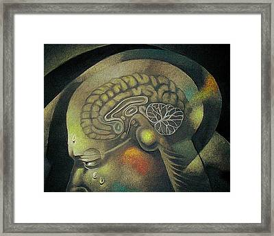 The Anxiety Of Knowledge Framed Print