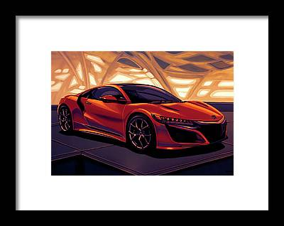 V8 Engine Framed Prints