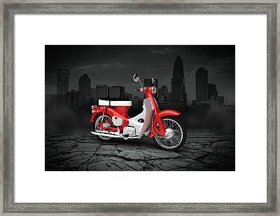 Honda C50 Cub 1967 City Framed Print