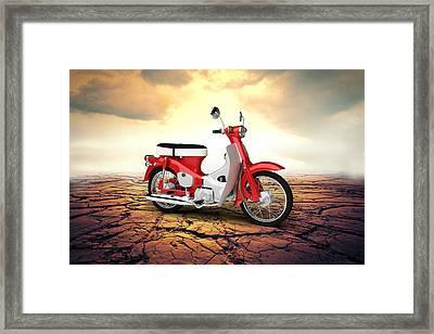 Honda C50 Cub 1967 Desert Framed Print