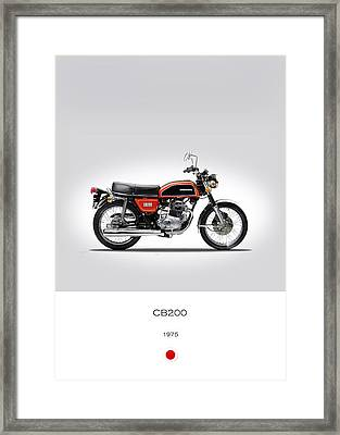 Honda Cb200 1975 Framed Print