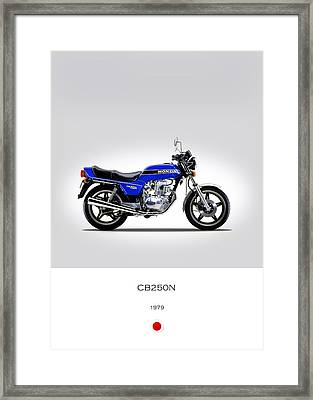 Honda Cb250n 1979 Framed Print