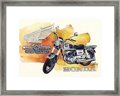 Honda Cd200 Road Master Framed Print by Yoshiharu Miyakawa