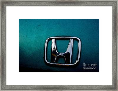 Honda Civic Hood Badge - Img4514 Framed Print by Wingsdomain Art and Photography