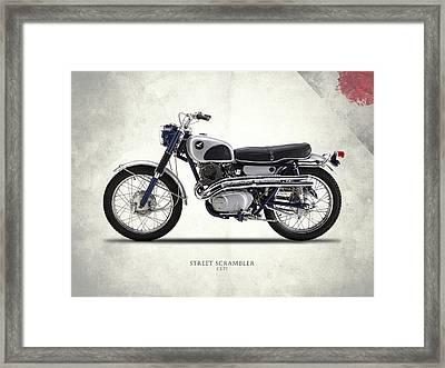 Honda Cl72 Street Scrambler 1966 Framed Print