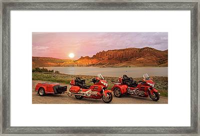 Honda Goldwing Bike Trike And Trailer Framed Print