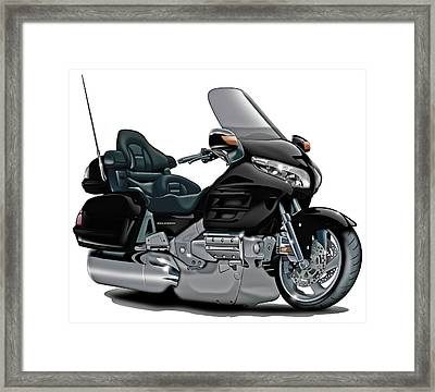 Honda Goldwing Black Bike Framed Print