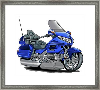 Honda Goldwing Blue Bike Framed Print