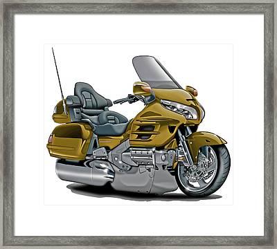 Honda Goldwing Gold Bike Framed Print