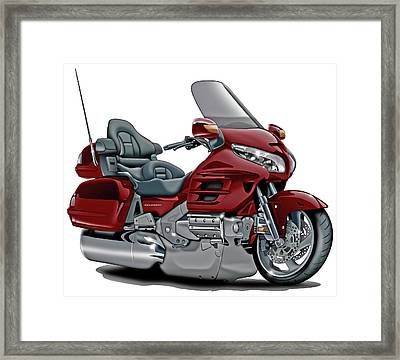 Honda Goldwing Maroon Bike Framed Print