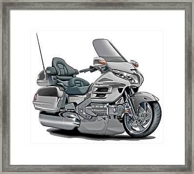 Honda Goldwing Silver Bike Framed Print