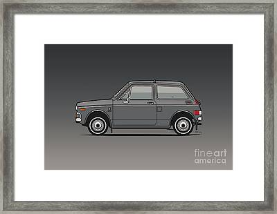 Honda N600 Gray Kei Car Us Version Framed Print