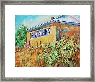 Hondo Valley School House Framed Print
