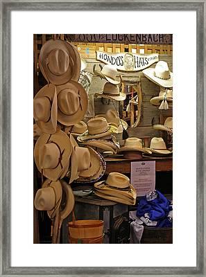 Hondo's Cowboy Hats - Luckenback Framed Print