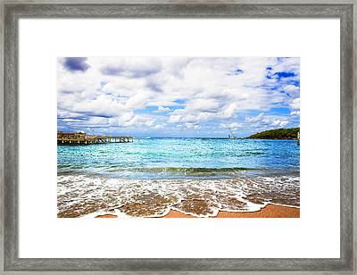Honduras Beach Framed Print by Marlo Horne