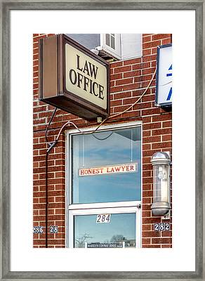 Honest Lawyer Framed Print
