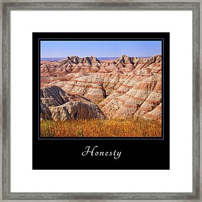Framed Print featuring the photograph Honesty 1 by Mary Jo Allen