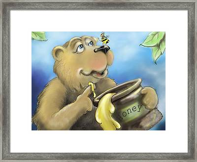 Honey Bear Framed Print by Hank Nunes