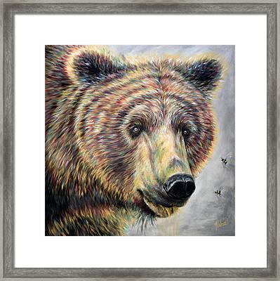 Honey Bear Framed Print by Teshia Art