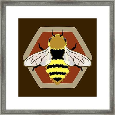 Honey Bee Graphic Framed Print