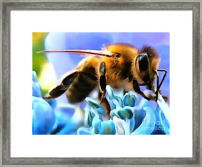 Honey Bee In Interior Design Thick Paint Framed Print