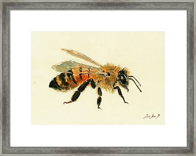 Honey Bee Painting Framed Print
