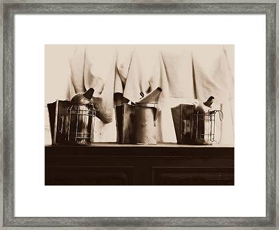 Honeybee Smokers Framed Print