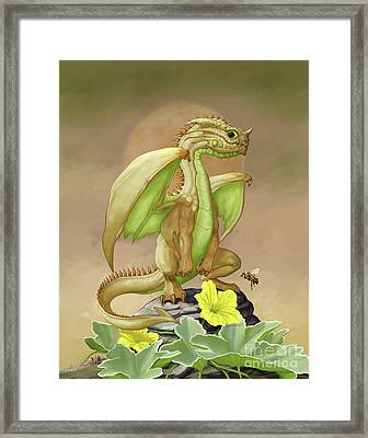 Framed Print featuring the digital art Honey Dew Dragon by Stanley Morrison
