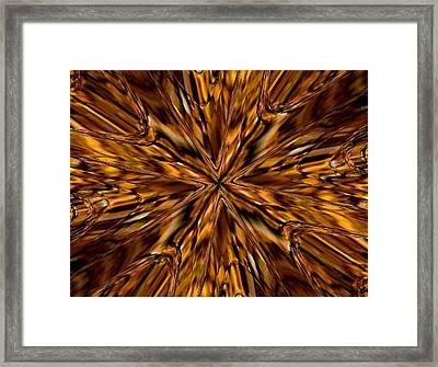 Honey Flow Framed Print