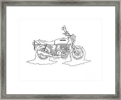 Honey Honda Framed Print by Stephen Brooks