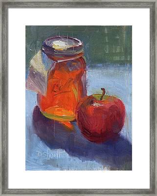 Honey Jar Framed Print by Donna Shortt