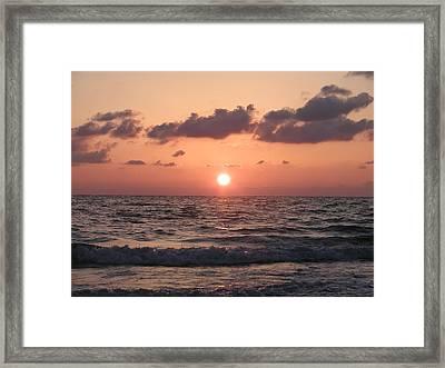 Honey Moon Island Sunset Framed Print