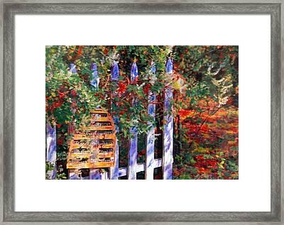 Honey Of A Garden Framed Print by Linda Bourie