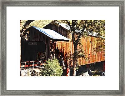 Honey Run Covered Bridge Framed Print by Pamela Patch
