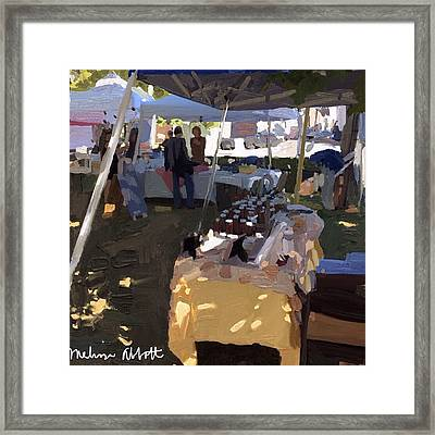 Honey Tent At Farmer's Market Framed Print