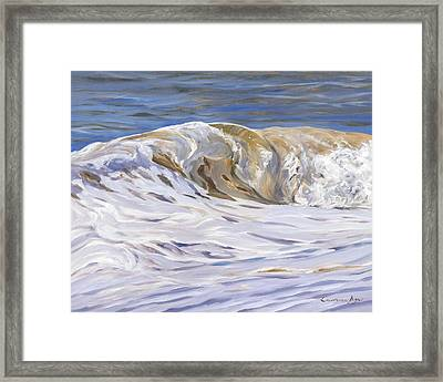 Framed Print featuring the painting Honey Wave by Lawrence Dyer