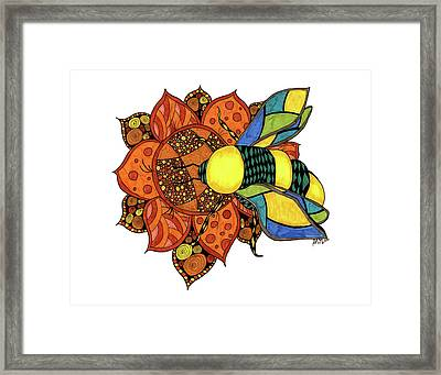 Honeybee On A Flower Framed Print