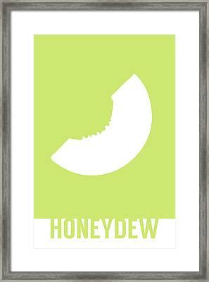 Honeydew Food Art Minimalist Fruit Poster Series 019 Framed Print