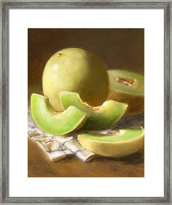 Honeydew Melons Framed Print