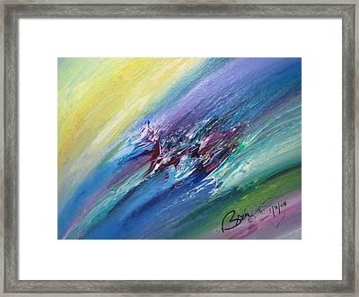 Honeymoon Bliss - C Framed Print by Brenda Basham Dothage