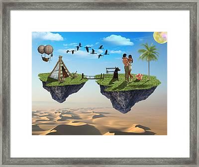 Honeymoon Getaway Framed Print by Solomon Barroa