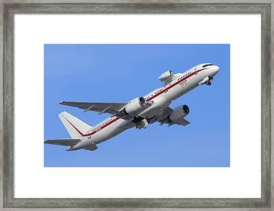 Honeywell 757 Engine Testbed N757hw Framed Print by Brian Lockett