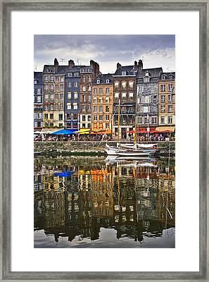 Honfleur France Framed Print by Ann Garrett