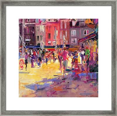 Honfleur Promenade Framed Print by Peter Graham
